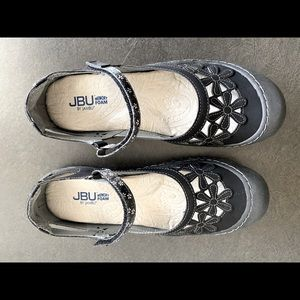 JB/Jamba Size 10 Memory Foam Sandals-Black